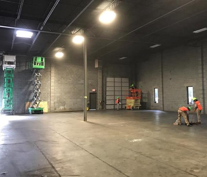 How does SERVPRO clean a large warehouse after a fire? After