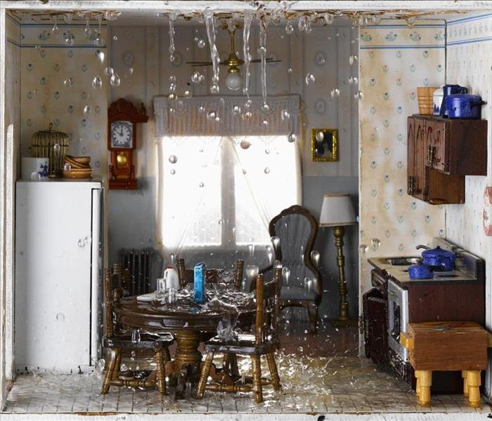 Storm Damage SERVPRO Helps Dry Kitchen Walls After Flood Damage To Your Chamblee Home